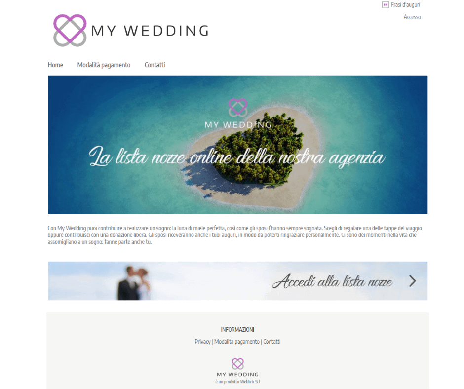 Lista nozze viaggi online