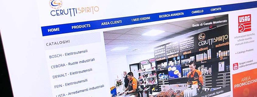 Sviluppo ecommerce B2B Cerutti Spirito