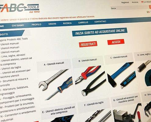 Realizzazione ecommerce abc tools
