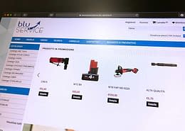Sviluppo ecommerce B2B Blu Service